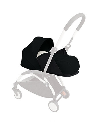 BabyZen yoyo+ newborn nest and colour pack - black
