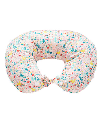 duck house printed feeding pillow