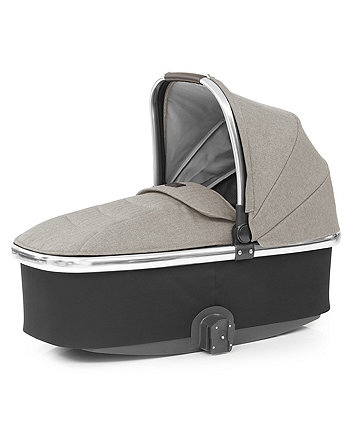 Babystyle oyster 3 carrycot with mirror trim - pebble
