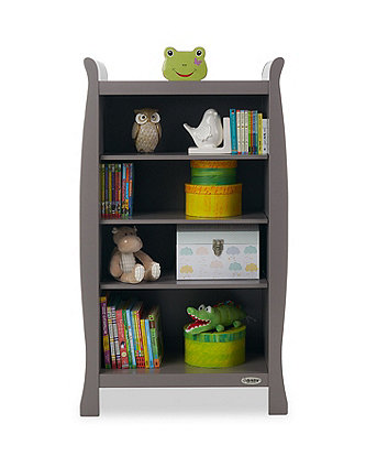 Obaby Stamford sleigh bookcase - taupe grey