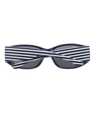 navy and white striped sunglasses