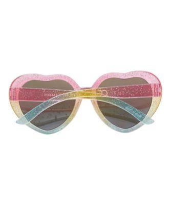 multicoloured heart sunglasses