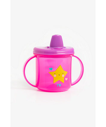 mothercare free flow first cup - pink