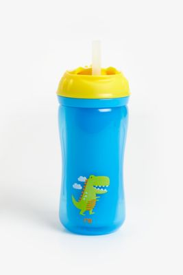 mothercare insulated flexi straw cup - blue