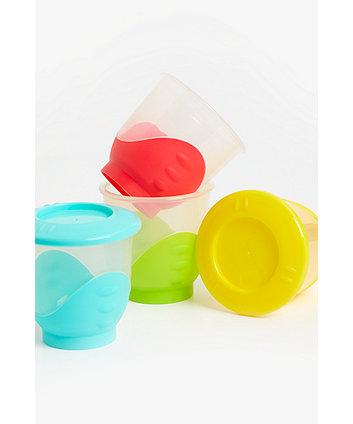 mothercare large easy pop freezer pots - 4 pack