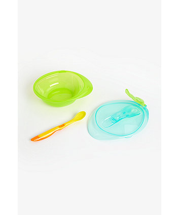 mothercare first tastes weaning bowl set - blue
