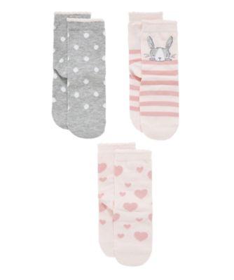 bunny socks - 3 pack