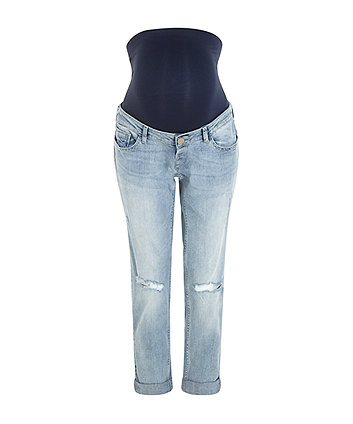 71c0d001378fa rip and repair over the bump maternity boyfriend jeans   maternity jeans    Mothercare