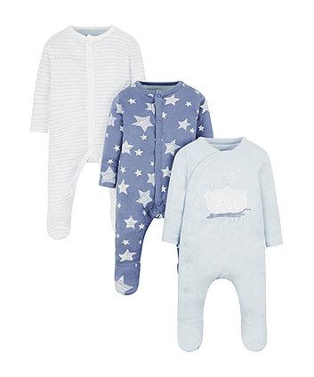 my first little bear sleepsuits - 3 pack