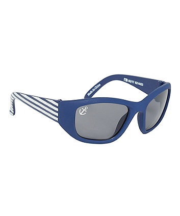 blue and white striped baby sunglasses