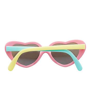 multicoloured heart sunglasses