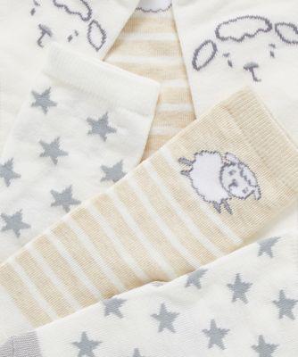 little lamb and star socks - 3 pack