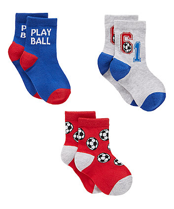 football socks - 3 pack