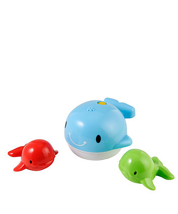mothercare splash and spray whale family bath toy