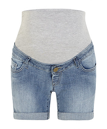 69b5505874a60 denim over the bump maternity shorts | trousers & shorts | Mothercare