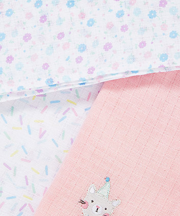 confetti party muslins - 3 pack