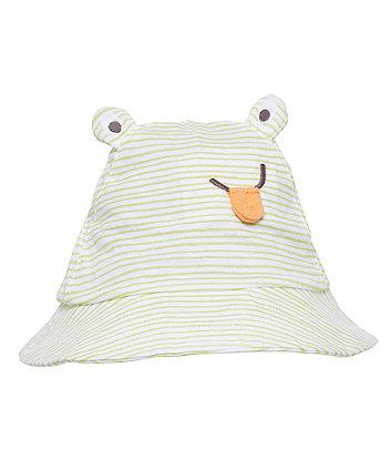 novelty frog sun hat