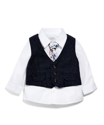 Mamas & Papas shirt, waistcoat and tie set