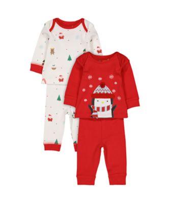 festsive pyjamas - 2 pack
