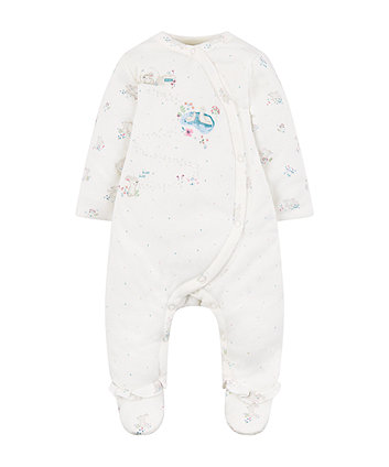 white bunny spot walk in sleeper - 2.5 tog