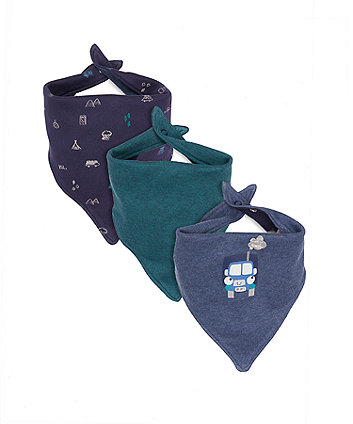 outdoors bandana bibs - 3 pack