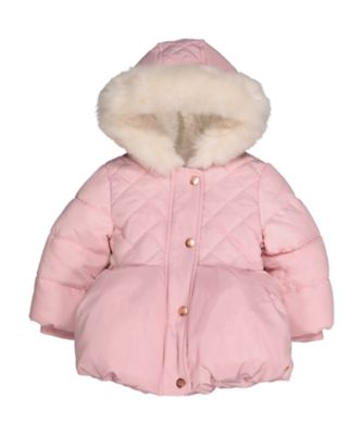 pink padded jacket