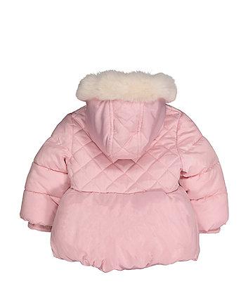 pink padded jacket