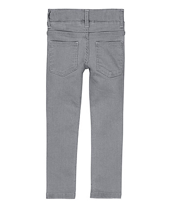 pale grey denim jeggings