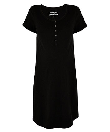 black nursing nightdress