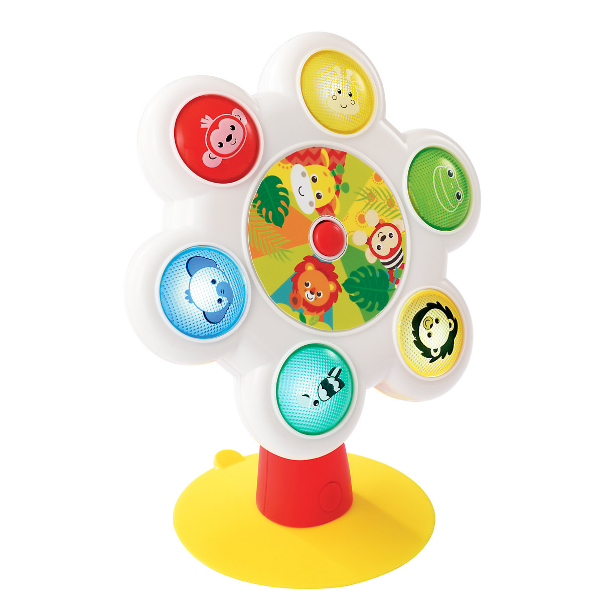 baby safari light and sounds rolling highchair toy