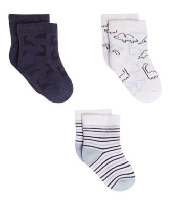 dinosaur stripe socks - 3 pack