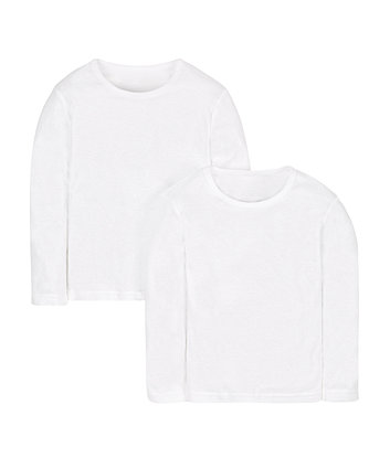white thermal vests - 2 pack