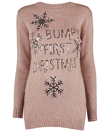 maternity bumps first christmas jumper - Maternity Christmas