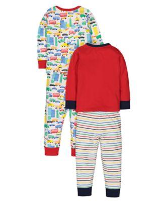 vehicle pyjamas - 2 pack