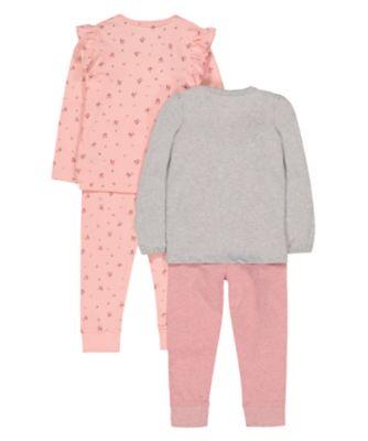 floral bunny pyjamas - 2 pack
