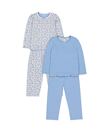 heritage blue floral pyjamas - 2 pack 638f2a7e8