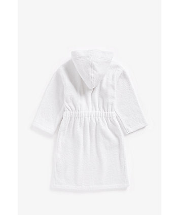white towelling robe