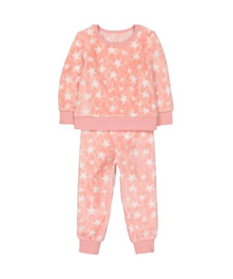pink fluffy star pyjamas
