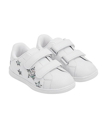 white glitter star trainers