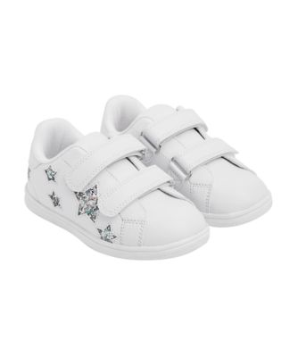 white glitter star trainers