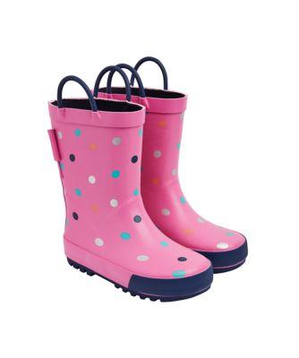 pink spot wellies