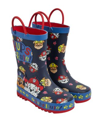 navy paw patrol wellies