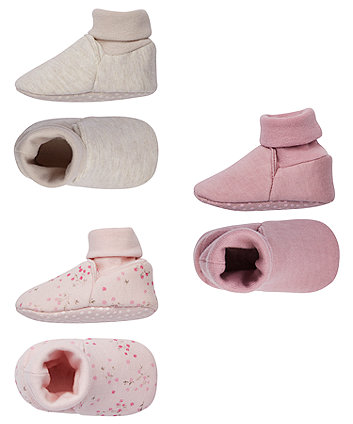 pink floral baggies - 3 pairs