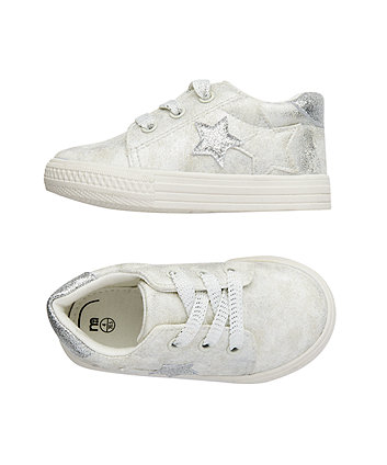 silver sparkle star trainers