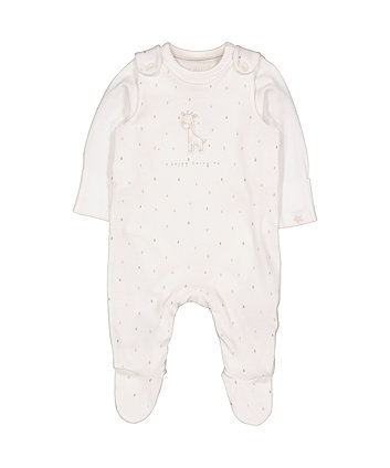 my first dungarees and bodysuit set