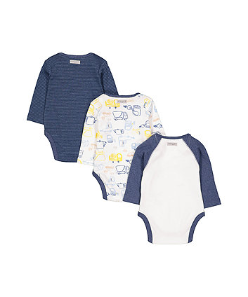 little truck bodysuits - 3 pack