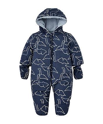 6a05736aa48 blue dino fleece lined snowsuit