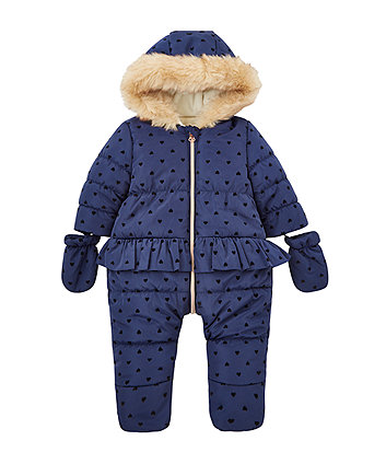 2ed23e79d Newborn Baby Girls Snowsuits   Pramsuits