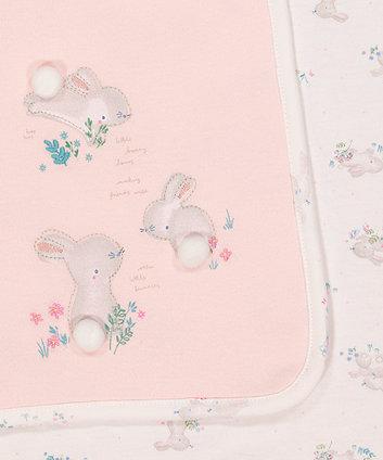 pink bunny shawl