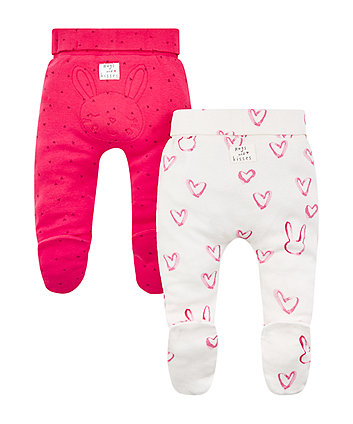 pink heart leggings - 2 pack